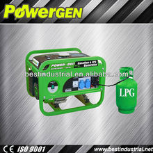 Best Seller!!! POWER-GEN Robust Gasoline Dual Use Generator Home Use 1KW LPG Gasoline Generator