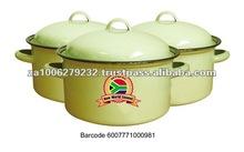 Enamel Soup Pot Set With 3 Pots