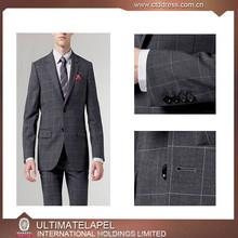 New Design Men Suit fashion tailor bespoke business men's custom suit manufactor