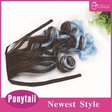 Deniya highlights hair extension Kanekalon wrap around clip in ponytail