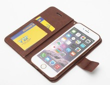 Vintage leather wallet case for iphone 6 leather case