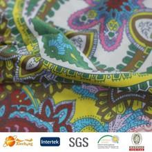 custom digital print 100% silk fabric crepe chiffon style