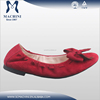 Foldable sole soft leather ladies fashion shoes