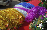 Hot Selling Decorative Artificial Tinsel Garland Christmas Home Decor Made In china