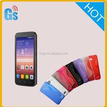 S Shape Soft Gel TPU Silicone Skin Case For Huawei Ascend Y625
