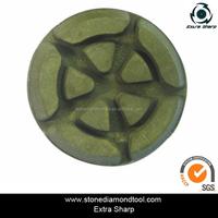 4'' Turtle Shape Round Resin Bond Floor Polishing Pads Diamond Concrete Tools for Marble/Granite/Concrete