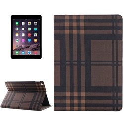 Color Grid Pattern PU Leather Smart Flip Case Cover for iPad Air2