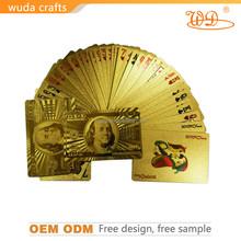 OEM brand custom design gold playing card