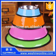 Steel stainless dog/cat bowl colourful healthy pet bowl