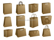 Different Shapes with Kraft Brown Grocery Printing Design High Quality Printing Paper Handle Bags with Best Printing Service