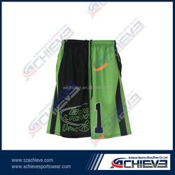 2015 Basketball Jersey Uniform Basketball Reversible Shirts Mesh Fabric Basketball short
