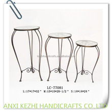 round wrought iron plant holder sets