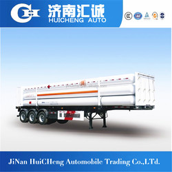 3axle 40ft 10 bundle tube skid container Compressed Natural Gas semi trailer