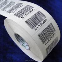 custon printing barcode label serial number print clothes label
