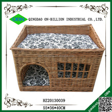 Cheap willow wicker basket for dog