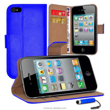 Wallet Flip PU Leather With Cash Card Slot Case Cover For Apple iPhone 5S