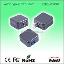 Wholesale US/EU plug dual usb 2A tablet charger