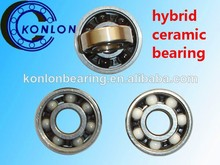 608 hybrid ceramic ball bearing for skateboard ABEC-5 with steel GCR15material inner and outer ring