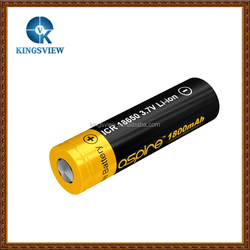 kingsview good price and fast shipping 1800mah battery Aspire 18650 battery ICR from Hosea