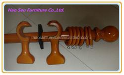 Wooden Curtain Pole Set