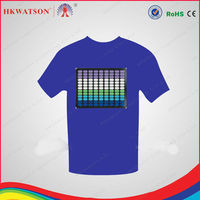 sound control fashion hit-hop music led for t-shirts