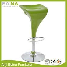 Designer abs plastic stool chair 360 degree swivel and adjustable