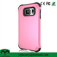 China factory pink pc tpu case custom mobile phone cover for samsung galaxy s6