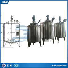 good quality stainless steel double jacketed preparation system,double jacketed butter processing tank