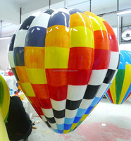 150cm fiber glass checkered balloon waterproof indoor/outdoor decorations/christmas or holiday decorations