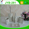 latest new style 4pcs polyresin bathroom accessory for home decoration