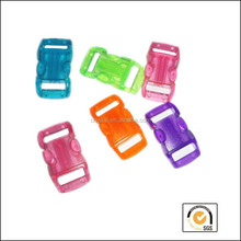 high quality colorful 3/8'' plastic buckles, curved paracord buckles, quick release buckle clasp