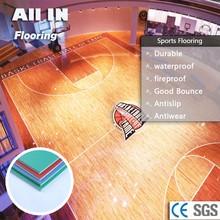 sport pvc flooring basketball easy maintain Non dusty raised flooring