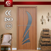 Interior PVC wooden door interior basement doors pvc plastic interior door