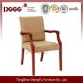 Dg-w0055 antiga sólida braço cadeira de madeira curvada
