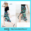 Newest high quality sexy cheap long maxi floral skirt wholesale