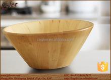 big size natural decoration wood fruit bowl