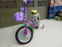 """2015 nwe style fashion kitty 12"""" bike with plastic basket for kids"""