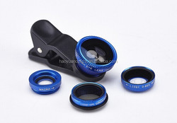 Universal 4 in 1 photo lens CPL Circular filter+0.65X Wide angle+Fish eye+ Macro Lens fit for smart phone