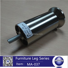 aluminum leg round stain finish leg cabinet base leg