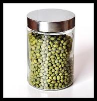 Food preservation glass jar/glass storage bottle with lids