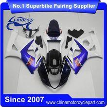 FFGSU007 Motorcycle Fairing Kit For GSX R1000 GSXR1000 2003 2004 Dark Blue Front And Blue