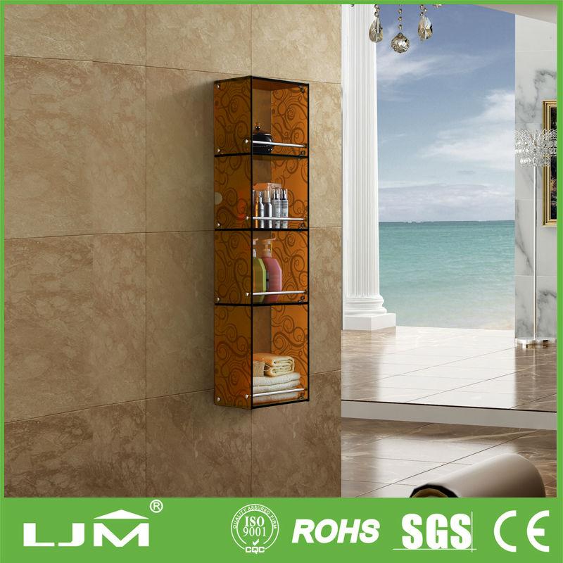 Estantes De Pared Para Baño:montado en la pared estante de vidrio-Estanterías y Estantes Baño