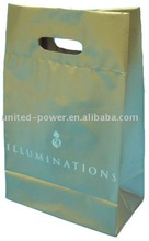 Biodegradable Fold Over Die Cut Plastic Shopping Bag