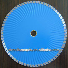 Diamond Turbo blades with wave