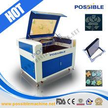 Menor preço Melhor venda Possível Cortador de máquina de gravura de plástico & borracha Laser Co2