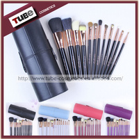 Hot 4 Colors Beauty Brush 12pcs Make Up Brush Animal Hair With Oval Makeup Brush Cup Holder