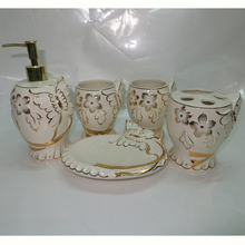EF571 Chinese Gold painted Fashion luxury modern ceramic kids craft