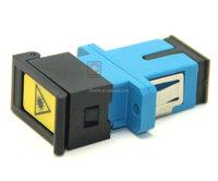 Plastic dust cap shutter Singlemode simplex optical adapter