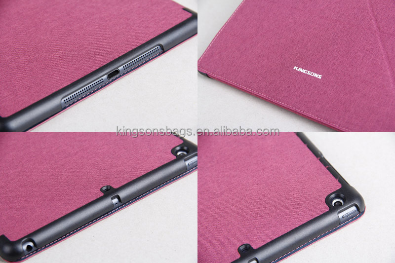 High class PU leather for nobis dual core 9 inch tablet case