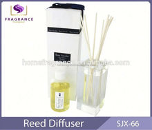Valentine's Day gifts essencial oil bedroom square glass bottle Mela aroma reed diffuser